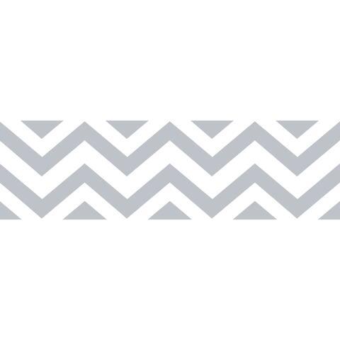 Sweet Jojo Designs Grey/ White Chevron Wall Border