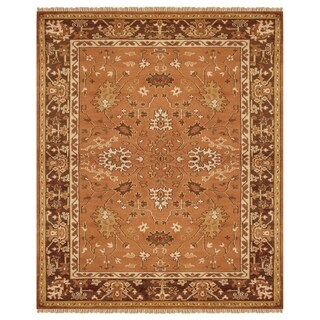 Grand Bazaar Hand-knotted 100-percent Wool Pile Pietra Area Rug in Rust/ Brown (7'9 x 9'9)