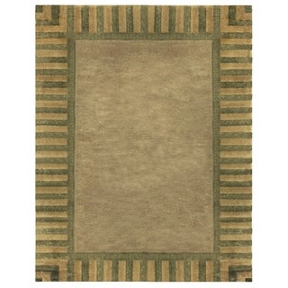 Grand Bazaar Hand-knotted Wool & Art Silk Sausalito Rug in Taupe 8' X 11'