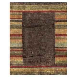 "Grand Bazaar Hand-knotted Wool & Art Silk Keystone Rug in Multi 7'-9"" x 9'-9"""