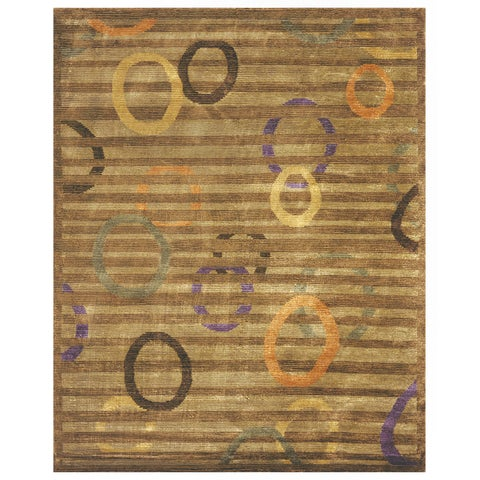 "Grand Bazaar Hand-knotted Wool & Art Silk Keystone Rug in Multi 7'-9"" x 9'-9"" - 7'9"" x 9'9"""