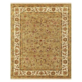 Grand Bazaar Hand-knotted 100-percent Wool Pile Wimbledon Area Rug in Sand/ Ivory (5'6 x)