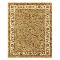 """Grand Bazaar Hand-knotted 100-percent Wool Pile Wimbledon Rug in Sand/Ivory 5'-6"""" x 8'-6"""" - 5'-6"""" x 8'-6"""""""