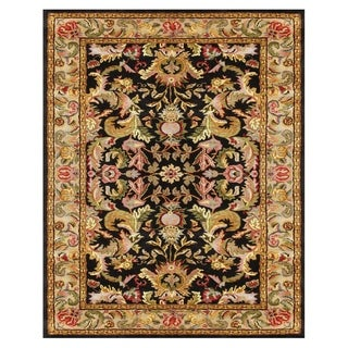 Grand Bazaar Tufted 100-percent Wool Pile Natasha Rug in Black/Beige 7' X 9'