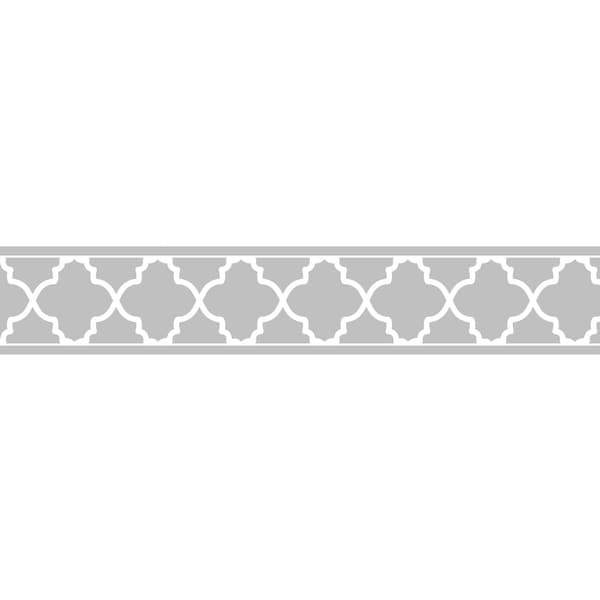 Sweet JoJo Designs Grey/ White Trellis Wall Border