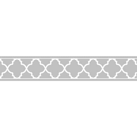 Sweet JoJo Designs Grey/ White Trellis Wall Border