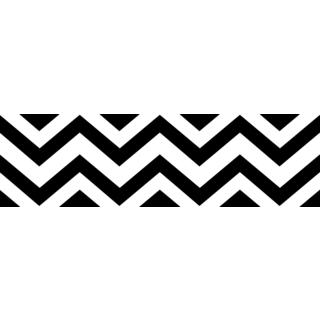 Sweet JoJo Designs Black/ White Chevron Wall Border