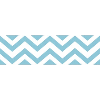 Sweet JoJo Designs Turquoise/ White Chevron Wall Border