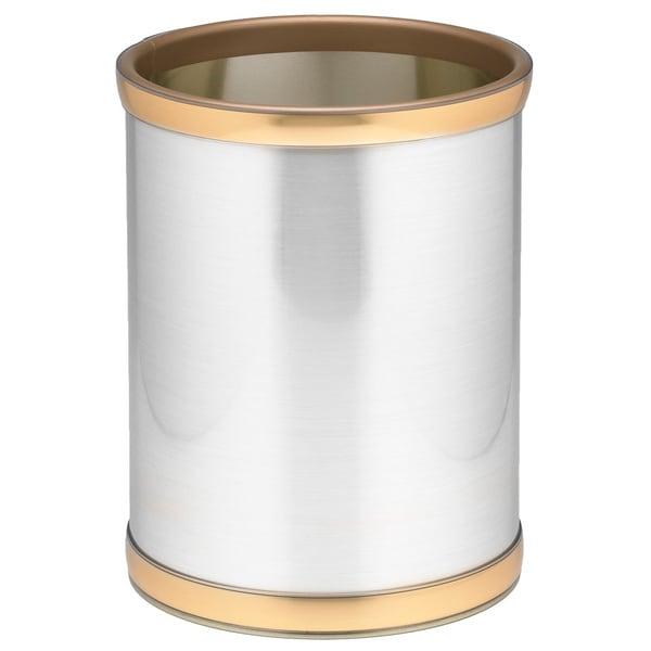 Mylar Metalic 10.25-inch Round Waste Basket