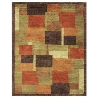 "Grand Bazaar Hand-knotted Wool & Art Silk Keystone Rug in Multi 5'-6"" x 8'-6"""
