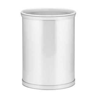 Mylar Metallic 14-inch Oval Waste Basket (Option: Brush Chrome)