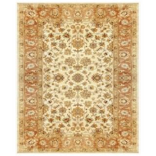 Grand Bazaar Tufted 100-percent Wool Pile Ziba Rug in Ivory/Peach - 5' x 8'