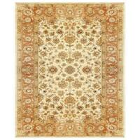 Grand Bazaar Tufted 100-percent Wool Pile Ziba Rug in Ivory/Peach 5' x 8' - 5' x 8'