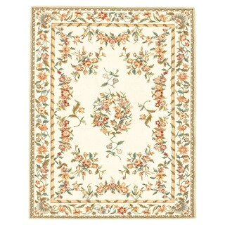 Grand Bazaar Tufted 100-percent Wool Pile Parisian Rug in Ivory 5' x 8'