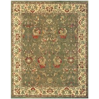 Grand Bazaar Hand-knotted 100-percent Wool Pile Tamara Rug in Olive/Ivory - 5' x 8'