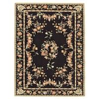 Grand Bazaar Tufted 100-percent Wool Pile Parisian Rug in Black 5' x 8' - 5' x 8'