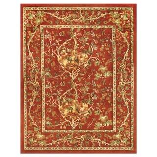Grand Bazaar Tufted 100-percent Wool Pile Natasha Rug in Red/Red 5' x 8'