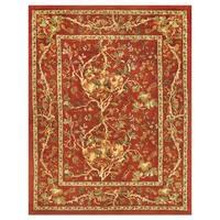 Grand Bazaar Tufted 100-percent Wool Pile Natasha Rug in Red/Red - 5' x 8'