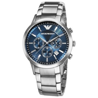 Emporio Armani Men's AR2448 'Classic' Chronograph Silver Stainless Steel Watch