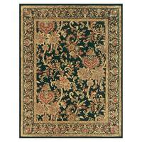 Grand Bazaar Tufted 100-percent Wool Pile Natasha Rug in Black/Black - 5' x 8'