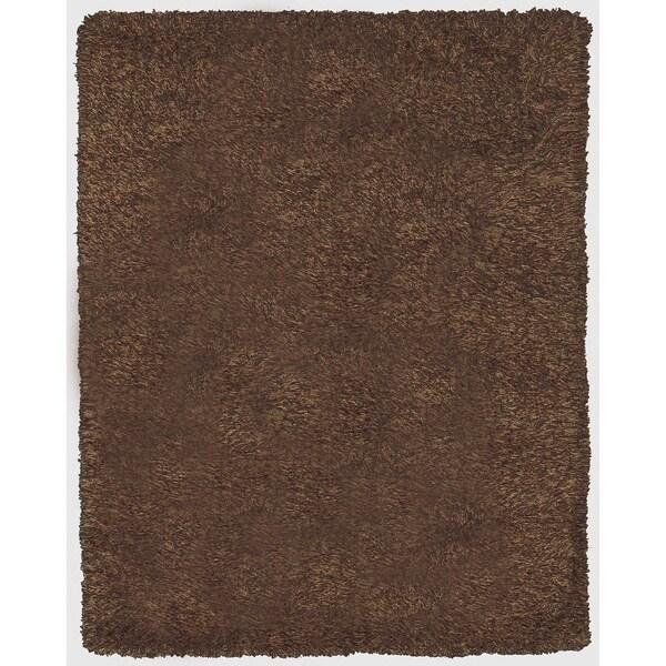 Grand Bazaar Tufted 100-percent Wool Pile Melrose Rug in Chocolate - 5' x 8'