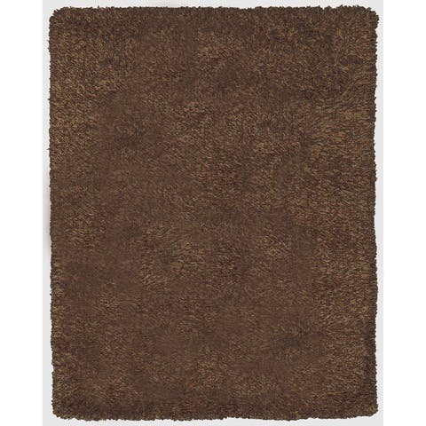 Grand Bazaar Tufted 100-percent Wool Pile Melrose Rug in Chocolate - 5' x 8'