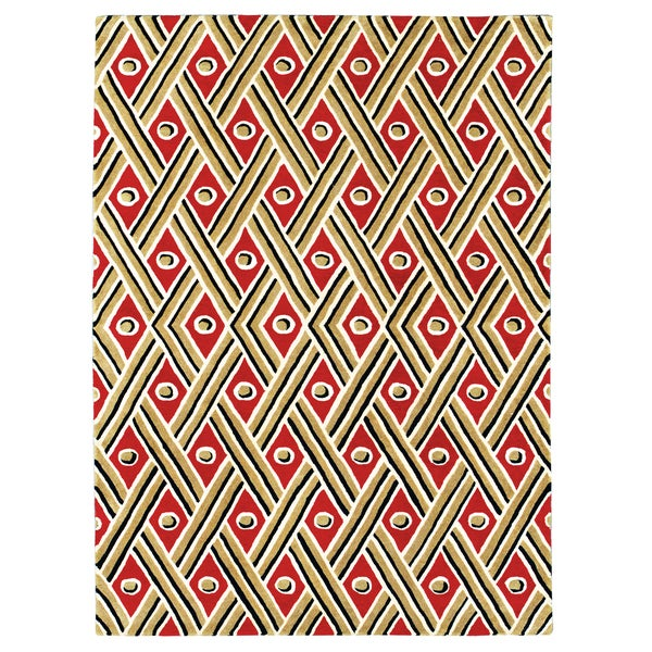 Grand Bazaar Tufted 100 Percent Wool Pile Expressions Rug