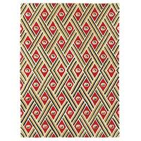 Grand Bazaar Tufted 100-percent Wool Pile Expressions Rug in Red - 5' x 8'