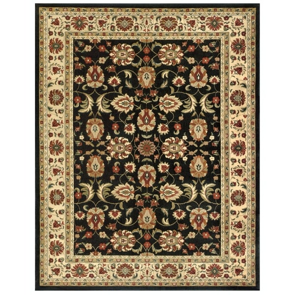 "Grand Bazaar Power Loomed Wilshire Rug in Charcoal/Ivory 2'-2"" x 4' - 2'2"" x 4'"