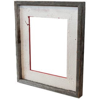 The Natural Crackled Poinsettia Red Recycled/ Reclaimed Wood 5-inch x 7-inch Frame