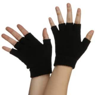 Black Fingerless Gloves Costume Accessory (Pair)