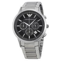 Emporio Armani Men's AR2434 'Classic' Chronograph Silver Stainless Steel Watch