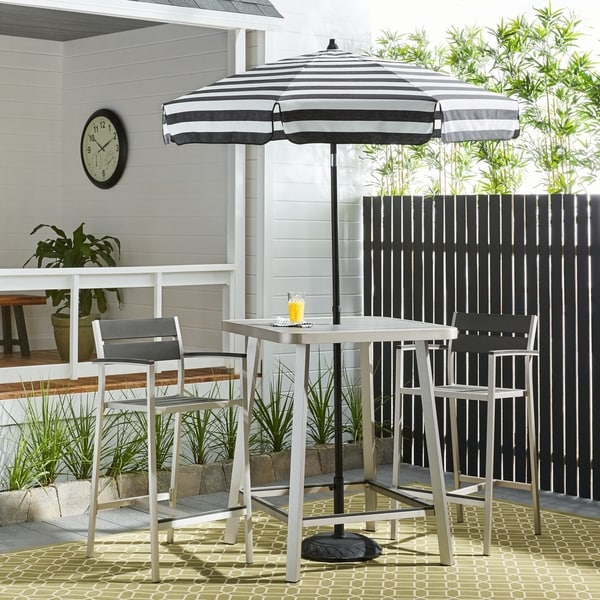 Genial Italian Bistro 6 Foot Acrylic Striped Patio Umbrella