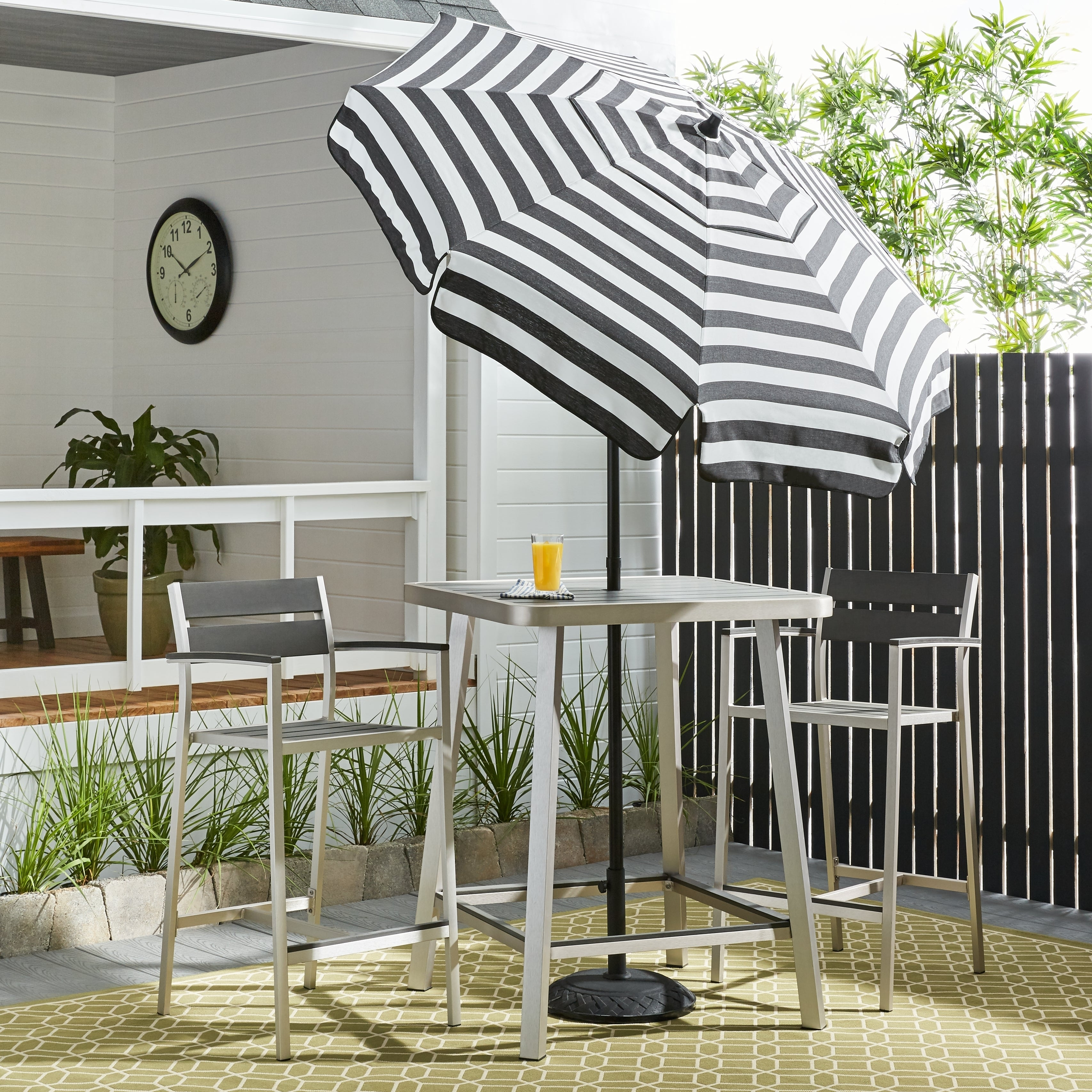 Acrylic Striped Patio Umbrella