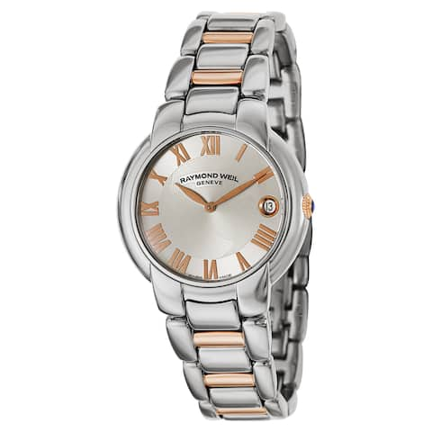 Raymond Weil Women's 5235-S5-01658 Jasmine Silver Dial Two Tone Stainless Steel Watch - White