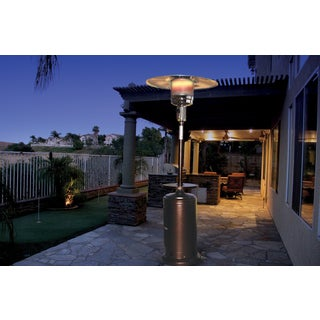 Northern Trail Hammered Copper 47000 BTU Patio Heater with Adjustable Built-in Table