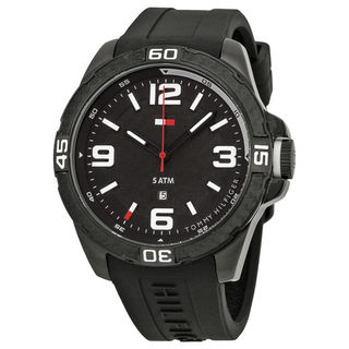 Tommy Hilfiger Men's 1791090 Black Silicone Watch