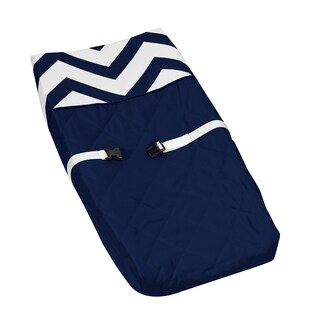 Sweet JoJo Designs Navy/ White Chevron Changing Pad Cover