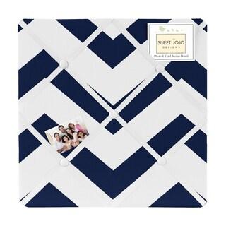 Sweet Jojo Designs Navy Blue/ White Chevron Photo Bulletin Board
