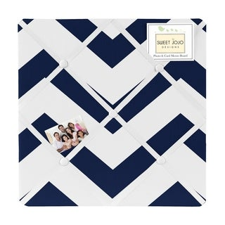 Sweet Jojo Designs Navy Blue/ White Chevron Photo Bulletin Board