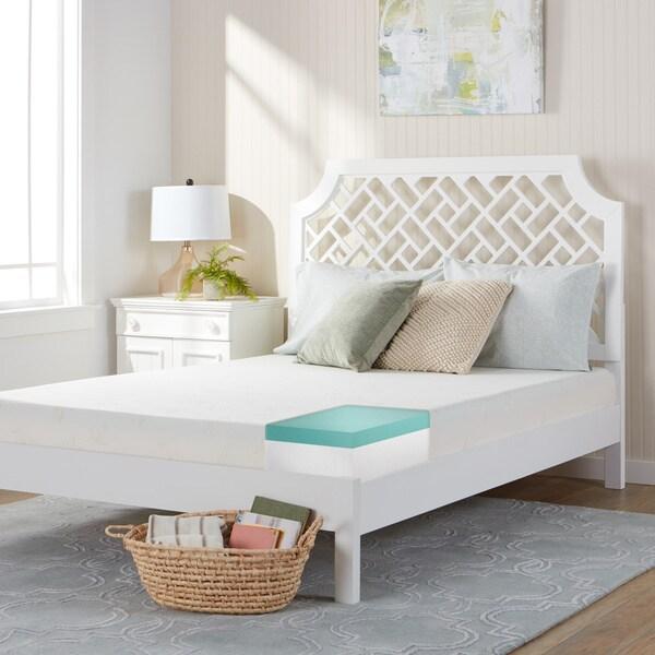 Comfort Dreams 8-inch Twin XL-size Gel Foam Mattress - White