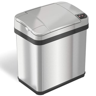 iTouchless Stainless Steel 2.5-gallon Multi-function Sensor Garbage Can