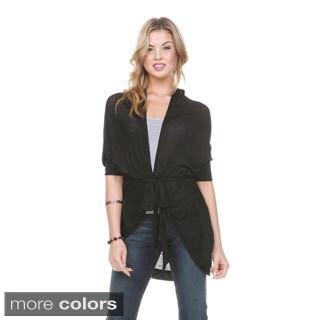Stanzino Women's Dolman Sleeve Soft Belted Cardigan