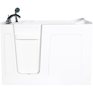 Envy 60-inch Soaker Walk-In Bath Tub in White