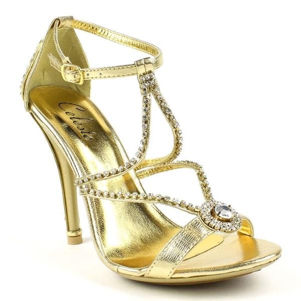 Shop Celeste Women s Sasa-03 T-strap Rhinestones Evening Sandals ... a6c0f1b7b152