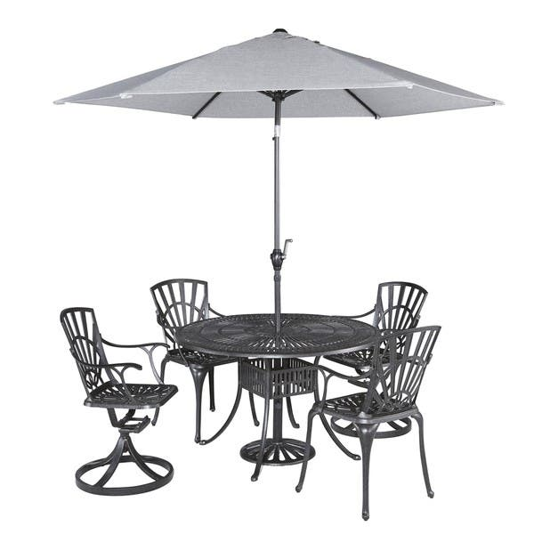 Largo 5 Piece Dining Set With Umbrella By Home Styles Overstock 9818574