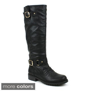 Mark and Maddux Women's Travis-01Z Knee-high Riding Boot