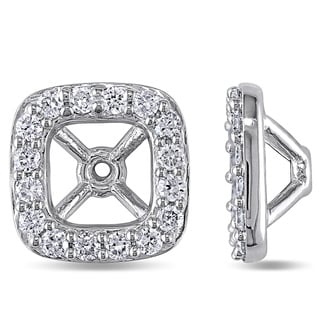 Miadora 14k White Gold 1/2ct TDW Diamond Stud Earring Jackets