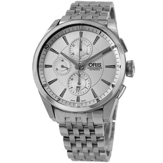 Oris Men's 674 7644 4051 MB 'Artix' Silver Dial Stainless Steel Automatic Chronograph Watch