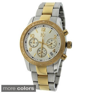 KC Women's WWO Gold over Stainless Steel Chronograph Diamond Watch